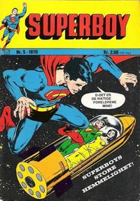 Cover Thumbnail for Superboy (Illustrerte Klassikere / Williams Forlag, 1969 series) #5/1970