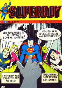 Cover Thumbnail for Superboy (Illustrerte Klassikere / Williams Forlag, 1969 series) #4/1975
