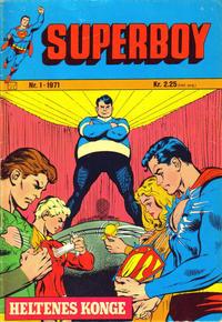 Cover Thumbnail for Superboy (Illustrerte Klassikere / Williams Forlag, 1969 series) #1/1971