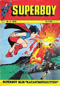 Cover Thumbnail for Superboy (Illustrerte Klassikere / Williams Forlag, 1969 series) #11/1970