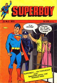 Cover Thumbnail for Superboy (Illustrerte Klassikere / Williams Forlag, 1969 series) #2/1972