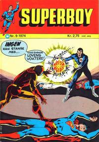 Cover Thumbnail for Superboy (Illustrerte Klassikere / Williams Forlag, 1969 series) #9/1974