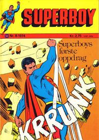 Cover Thumbnail for Superboy (Illustrerte Klassikere / Williams Forlag, 1969 series) #8/1974