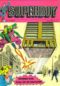Cover Thumbnail for Superboy (Illustrerte Klassikere / Williams Forlag, 1969 series) #12/1974