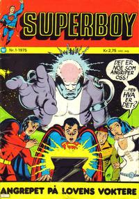 Cover Thumbnail for Superboy (Illustrerte Klassikere / Williams Forlag, 1969 series) #1/1975