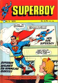 Cover Thumbnail for Superboy (Illustrerte Klassikere / Williams Forlag, 1969 series) #5/1974