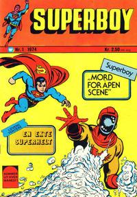 Cover Thumbnail for Superboy (Illustrerte Klassikere / Williams Forlag, 1969 series) #1/1974