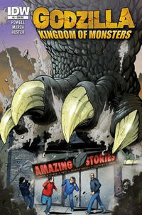 Cover Thumbnail for Godzilla: Kingdom of Monsters (IDW, 2011 series) #1 [Second Printing: Amazing Stories Cover]