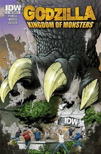 Cover Thumbnail for Godzilla: Kingdom of Monsters (IDW, 2011 series) #1 [Second Printing: IDW IV Cover]