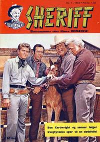 Cover Thumbnail for Sheriff (Serieforlaget / Se-Bladene / Stabenfeldt, 1959 series) #1/1963