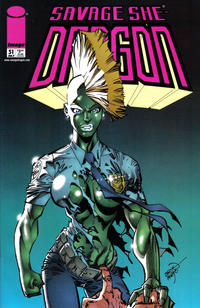 Cover Thumbnail for Savage Dragon (Image, 1993 series) #51 [Velvet Logo]