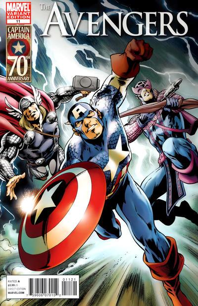 Cover for Avengers (Marvel, 2010 series) #11