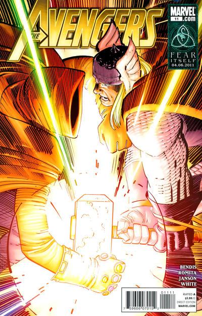 Cover for Avengers (Marvel, 2010 series) #11 [Captain America 70th Anniversary Variant]