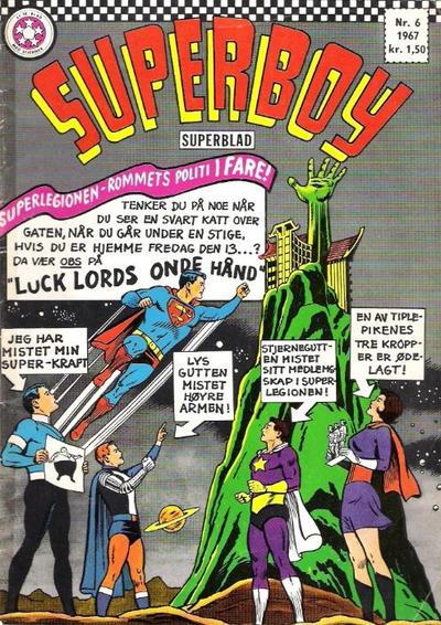 Cover for Superboy (Serieforlaget / Se-Bladene / Stabenfeldt, 1967 series) #6/1967