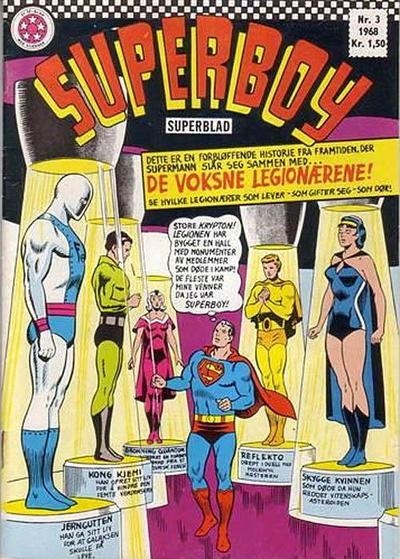 Cover for Superboy (Serieforlaget / Se-Bladene / Stabenfeldt, 1967 series) #3/1968