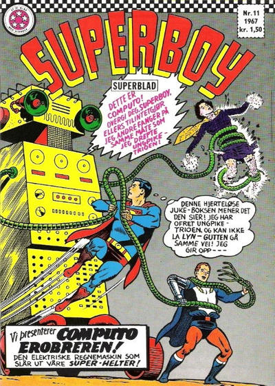 Cover for Superboy (Serieforlaget / Se-Bladene / Stabenfeldt, 1967 series) #11/1967