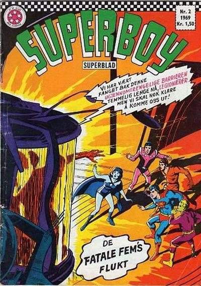 Cover for Superboy (Serieforlaget / Se-Bladene / Stabenfeldt, 1967 series) #2/1969