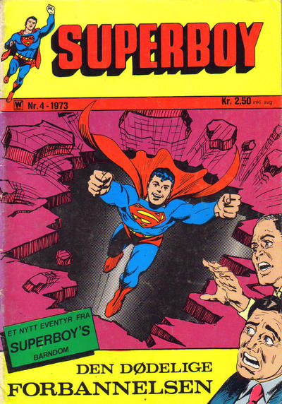 Cover for Superboy (Illustrerte Klassikere / Williams Forlag, 1969 series) #4/1973 [3/1973]