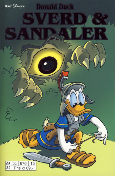 Cover for Donald Duck Tema pocket; Walt Disney's Tema pocket (Hjemmet / Egmont, 1997 series) #Donald Duck sverd og sandaler