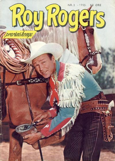 Cover for Roy Rogers (Serieforlaget / Se-Bladene / Stabenfeldt, 1954 series) #3/1955