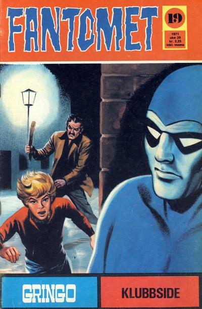 Cover for Fantomet (Romanforlaget, 1966 series) #19/1971