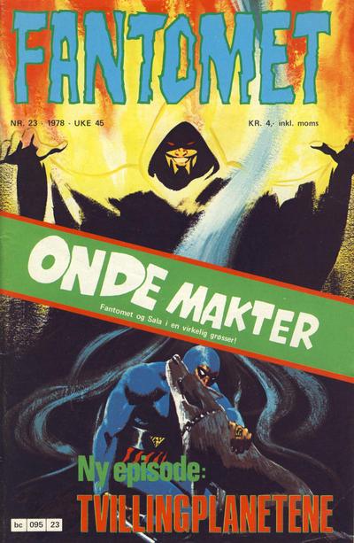 Cover for Fantomet (Semic, 1976 series) #23/1978