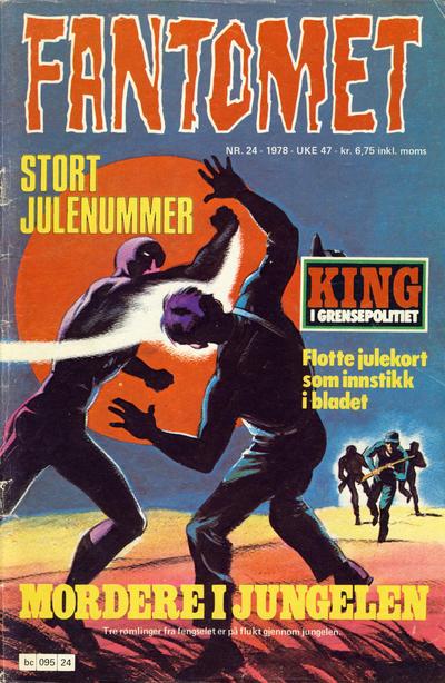 Cover for Fantomet (Semic, 1976 series) #24/1978