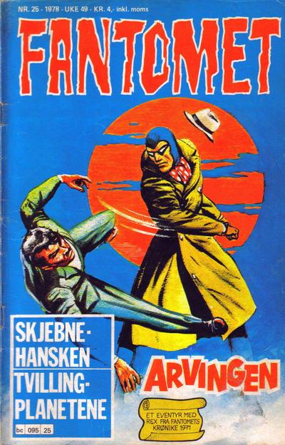 Cover for Fantomet (Semic, 1976 series) #25/1978