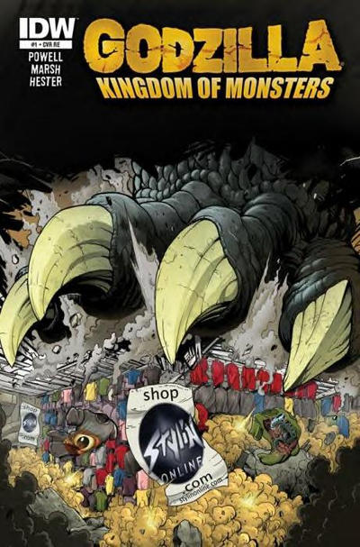 Cover for Godzilla: Kingdom of Monsters (IDW, 2011 series) #1 [Ssalefish Comics Cover]