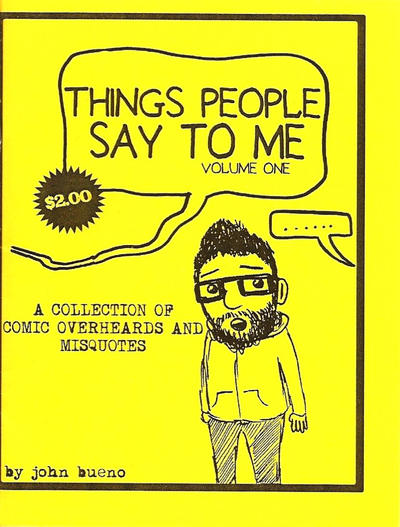 Cover for Things People Say to Me (Fat with Glasses, 2010 series) #1