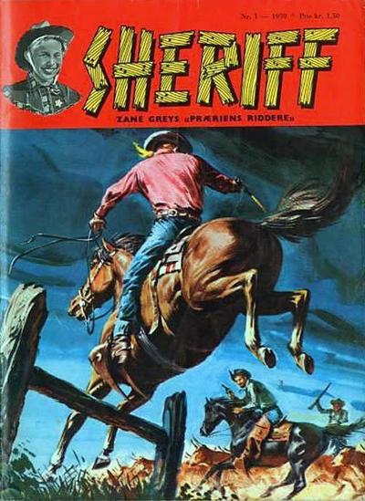 Cover for Sheriff (Serieforlaget / Se-Bladene / Stabenfeldt, 1959 series) #1/1959
