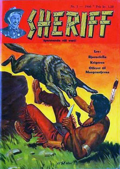 Cover for Sheriff (Serieforlaget / Se-Bladene / Stabenfeldt, 1959 series) #1/1960