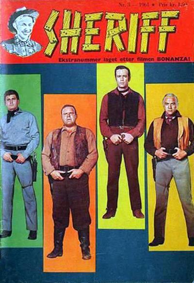 Cover for Sheriff (Serieforlaget / Se-Bladene / Stabenfeldt, 1959 series) #3/1961