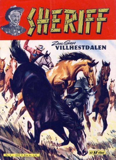 Cover for Sheriff (Serieforlaget / Se-Bladene / Stabenfeldt, 1959 series) #3/1959