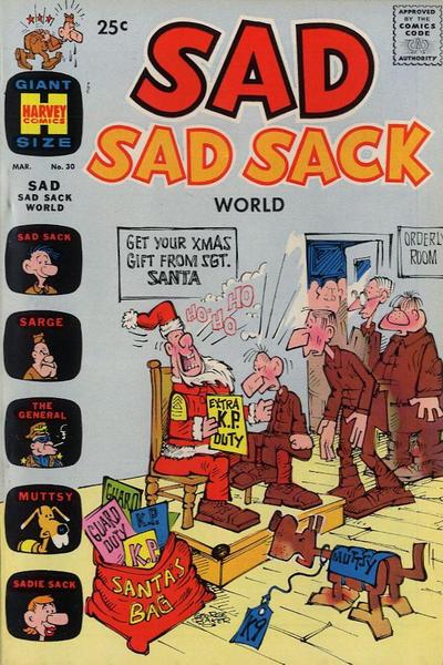 Cover for Sad Sad Sack World (Harvey, 1964 series) #30