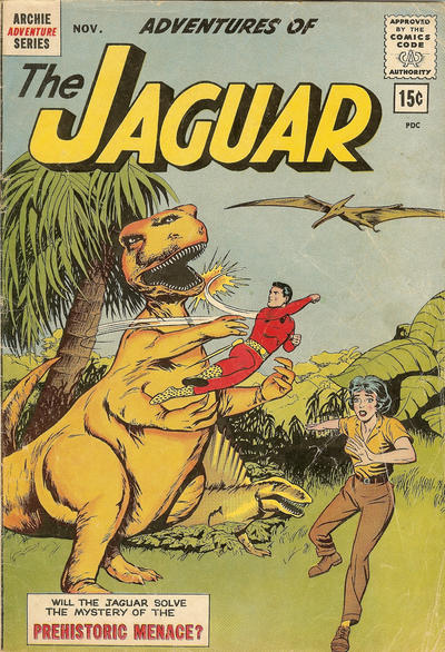 Cover for Adventures of the Jaguar (Archie, 1961 series) #10 [12 cent cover price]