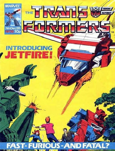 Cover for Transformers (Marvel UK, 1984 series) #38