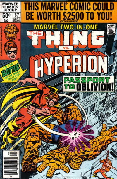 Cover for Marvel Two-in-One (Marvel, 1974 series) #67 [British]