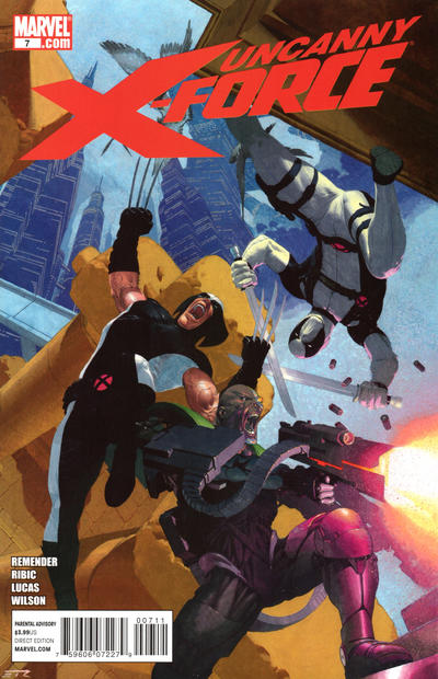 Cover for Uncanny X-Force (Marvel, 2010 series) #7 [Thor Goes Hollywood Variant Edition]