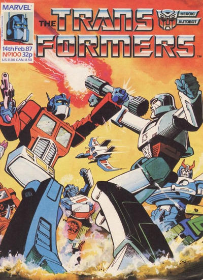 Cover for Transformers (Marvel UK, 1984 series) #100