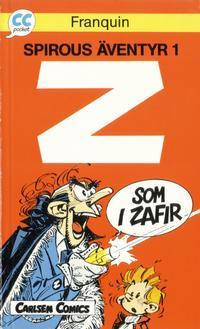 Cover Thumbnail for CC pocket (Carlsen/if [SE], 1990 series) #3 - Spirous äventyr 1: Z som i Zafir