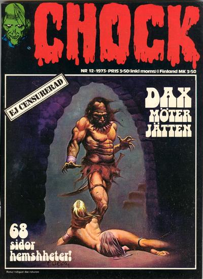 Cover for Chock (Semic, 1972 series) #12/1973