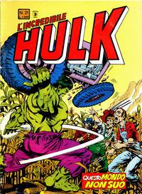 Cover Thumbnail for L'Incredibile Hulk (Editoriale Corno, 1980 series) #21