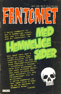 Cover Thumbnail for Fantomet (Semic, 1976 series) #9/1979