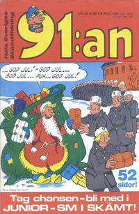Cover Thumbnail for 91:an [delas] (Åhlén & Åkerlunds, 1956 series) #25/71