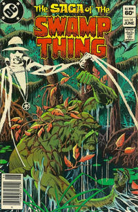 Cover for The Saga of Swamp Thing (DC, 1982 series) #14 [Newsstand]