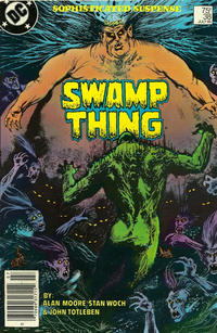 Cover Thumbnail for The Saga of Swamp Thing (DC, 1982 series) #38 [Newsstand]