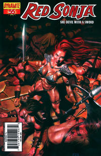 Cover Thumbnail for Red Sonja (Dynamite Entertainment, 2005 series) #55 [Cover A Patrick Berkenkotter]