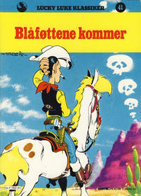 Cover Thumbnail for Lucky Luke (Semic, 1977 series) #41 - Blåføttene kommer [1. opplag]