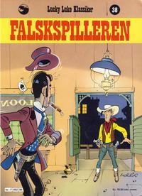 Cover Thumbnail for Lucky Luke (Semic, 1977 series) #38 - Falskspilleren [1. opplag]